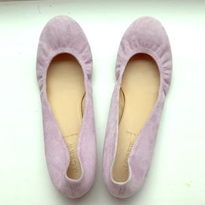 Lilac J Crew ballet flats, size 9, new without box